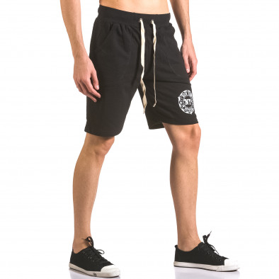Pantaloni scurți bărbați Me & You negri ca050416-44 4