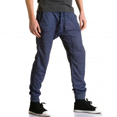 Pantaloni baggy bărbați Dress&GO albaștri ca190116-27 4