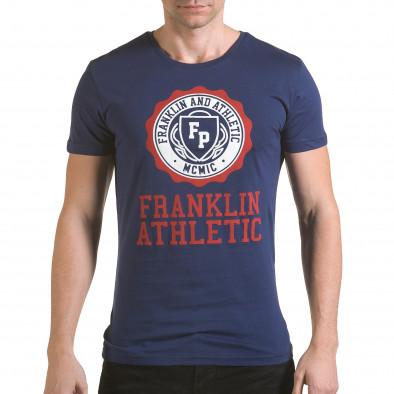 Tricou bărbați Franklin albastru il170216-6 2