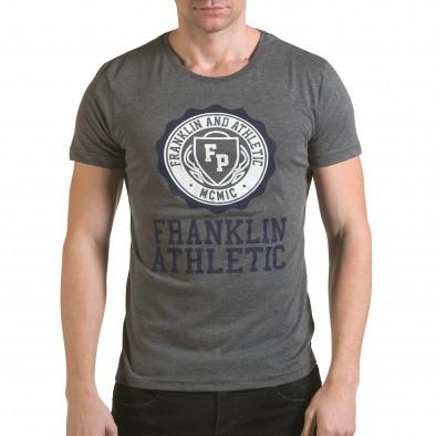Tricou bărbați Franklin gri il170216-7 2