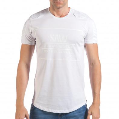 Tricou bărbați SAW alb il060616-24 2