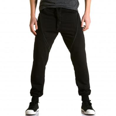 Pantaloni baggy bărbați DelPiero negri ca190116-25 2