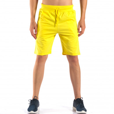 Pantaloni scurți bărbați Social Network galbeni it160616-10 2