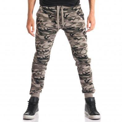 Pantaloni bărbați New Mentality camuflaj ca280916-9 2