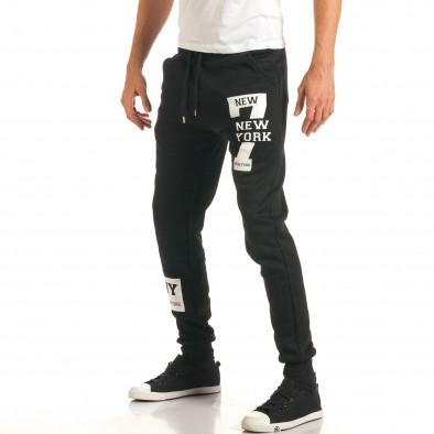 Pantaloni bărbați New Mentality negru it191016-17 4