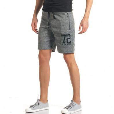 pantaloni scurți bărbați furia rossa gri it140317 126