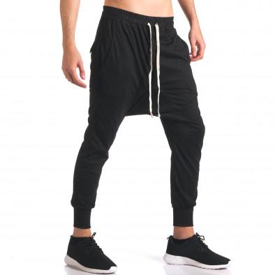 Pantaloni baggy bărbați Hancity negri it250416-6 4
