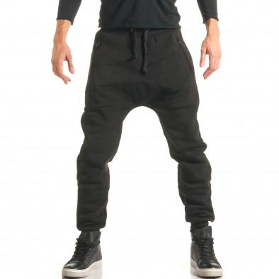 Pantaloni baggy bărbați Ross Kemp negri it181116-50 2