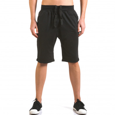 Pantaloni scurți bărbați Dress&GO negri it160316-22 2