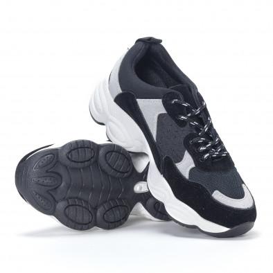 Pantofi sport de dama negre it230418-46 4