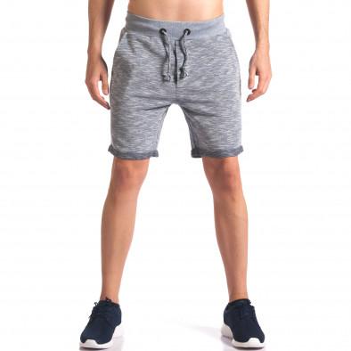 Pantaloni scurți bărbați New Brams albaștri it250416-10 2