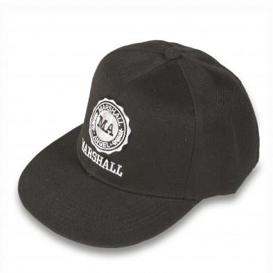 Șapcă bărbați Marshall neagră it220316-5 2
