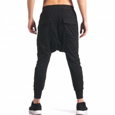 Pantaloni baggy bărbați Hancity negri it250416-6 3