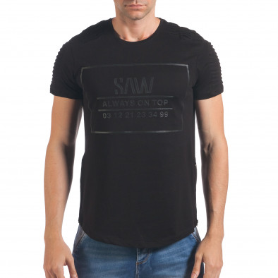 Tricou bărbați SAW negru il060616-23 2
