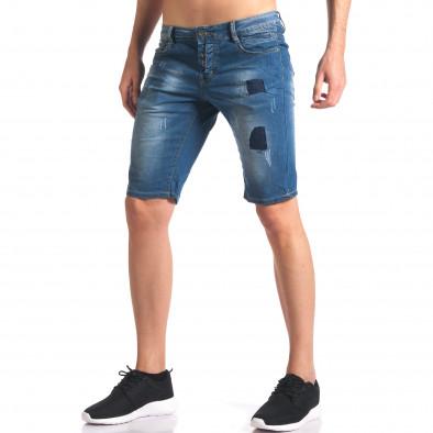 Blugi scurți bărbați Yan's Jeans albaștri it250416-33 4