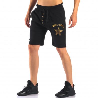 Pantaloni scurți bărbați Black Fox negri it160616-12 4