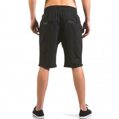 Pantaloni scurți bărbați Dress&GO negri it160316-22 3