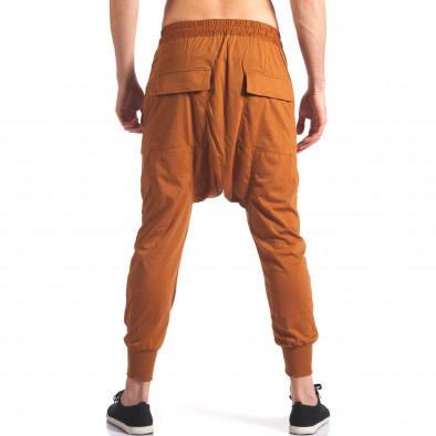 Pantaloni baggy bărbați Hancity maro it250416-5 3
