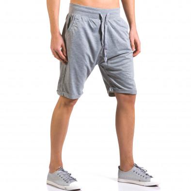 Pantaloni scurți bărbați Dress&GO gri it160316-25 4