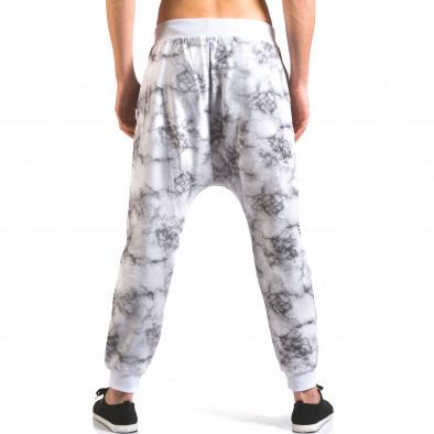 Pantaloni baggy bărbați Vestiti Delle Nuvole albi it160316-7 3