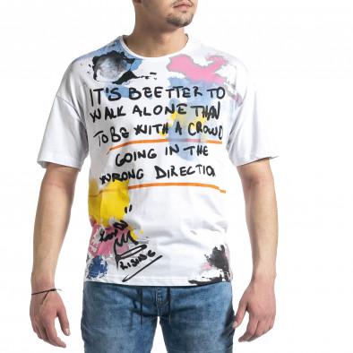Tricou bărbați Breezy alb tr270221-47 2