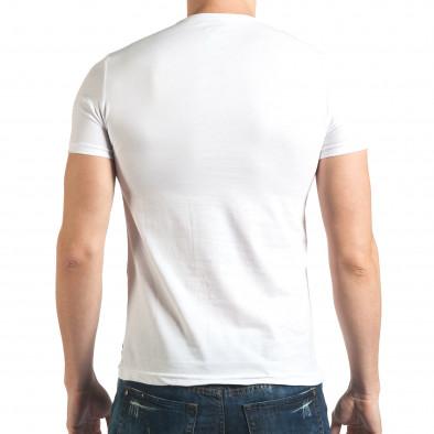 Tricou bărbați Millionaire alb il140416-17 3