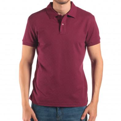 Tricou cu guler bărbați Bruno Leoni roșu it150616-37 2