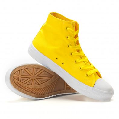 Teniși înalți galbeni cu talpă albă pentru bărbați it260117-51 4