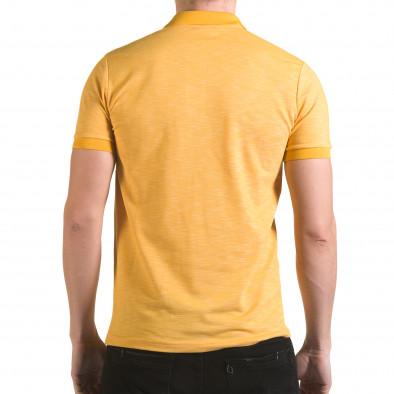 Tricou cu guler bărbați Franklin galben il170216-40 3