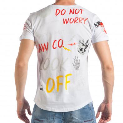 Tricou bărbați SAW alb tsf290318-48 3