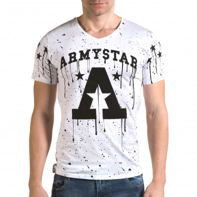 Tricou bărbați Lagos alb il120216-40 2