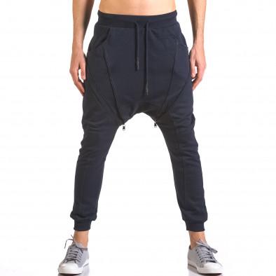 Pantaloni baggy bărbați Devil Slayer albaștri ca050416-50 2
