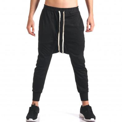 Pantaloni baggy bărbați Hancity negri it250416-6 2