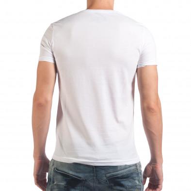 Tricou bărbați Just Relax alb il060616-7 3