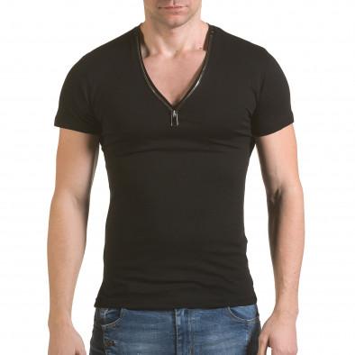 Tricou bărbați SAW negru il170216-67 2