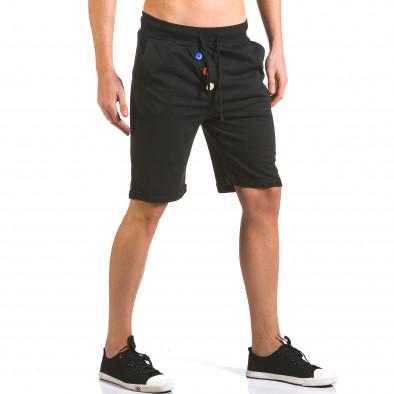 Pantaloni scurți bărbați Vestiti Delle Nuvole negri it160316-27 4