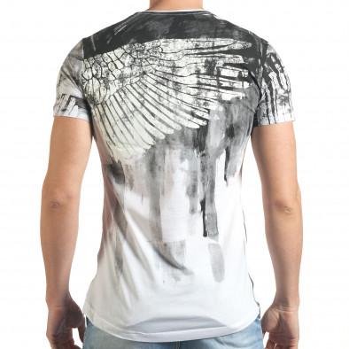 Tricou bărbați Eksi alb tsf140416-4 3