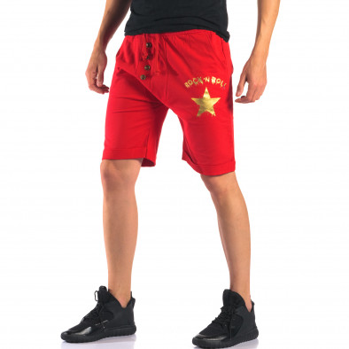 Pantaloni scurți bărbați Black Fox roșii it160616-14 4