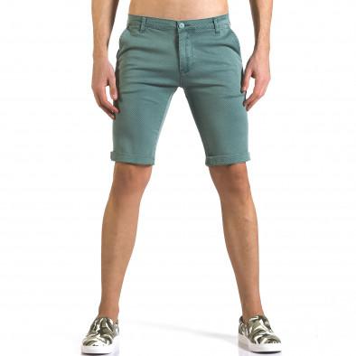 Pantaloni scurți bărbați Bruno Leoni verzi it110316-47 2