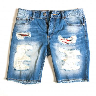Blugi scurți bărbați Always Jeans albaștri ca030414-2 4