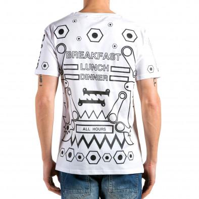 Tricou bărbați Kariqu alb it180315-46 3