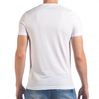Tricou bărbați Just Relax alb il060616-11 3