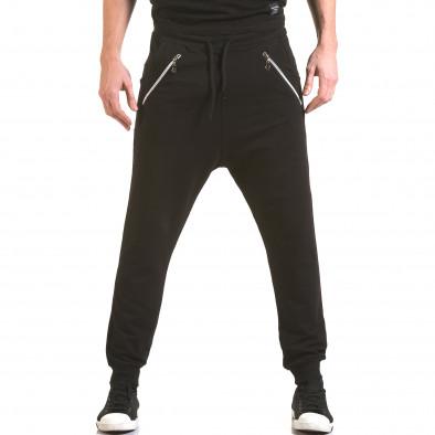 Pantaloni baggy bărbați Franklin negri il170216-139 2