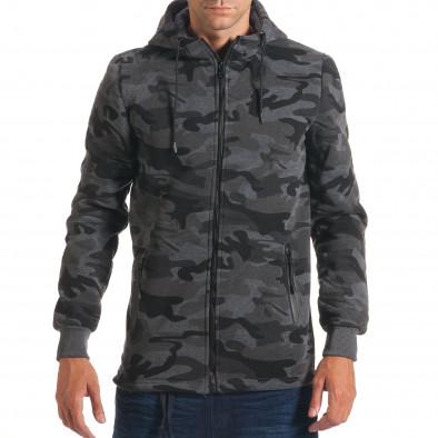 Hanorac bărbați New Black camuflaj it240816-72 2