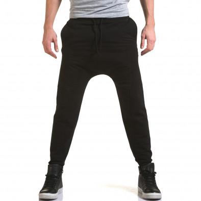 Pantaloni baggy bărbați FM negri it090216-62 2