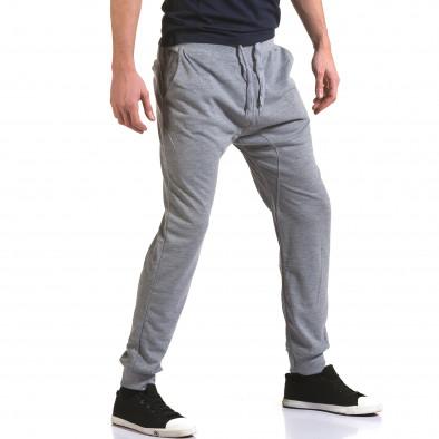 Pantaloni baggy bărbați Dress&GO gri it090216-38 4