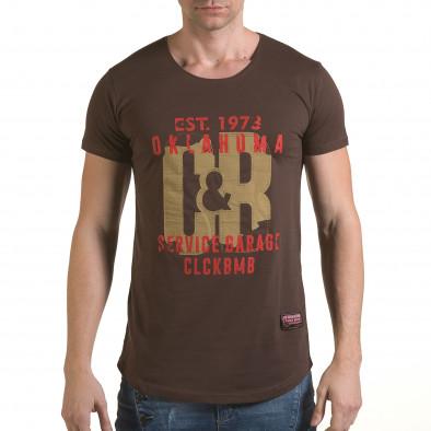 Tricou bărbați Click Bomb maro il170216-87 2