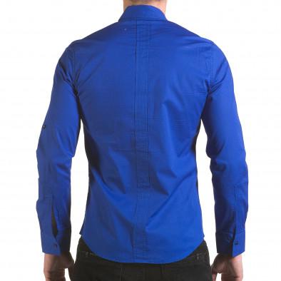 Cămașă cu mânecă lungă bărbați Jeanscollic albastră il170216-94 3