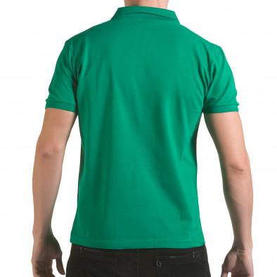 Tricou cu guler bărbați Franklin verde il170216-32 3