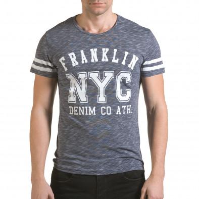 Tricou bărbați Franklin albastru il170216-5 2